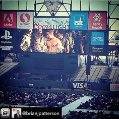 #flashback to last summer.  It's intermission of @sfopera's live @attparkofficial simulcast of Carmen. I'm on break backstage and find this picture (of @irenemroberts & I) posted on @instagram by @darlaspiers who is among the 30k people watching at the park..nice surprise that day.  #flashbackfriday #fbf #missthatshow #sanfrancisco #sf #muscle #muscles #fitfam #friday #fridays #stage #onstage #OnScreen #sports #fun #work #workout #fitness #bodybuilding #model #workingactor #passion #dance…