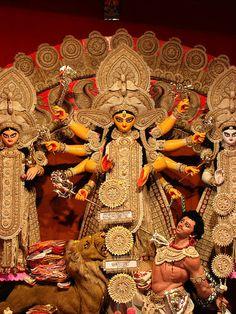 Experience the awe-inspiring & blessed festival of Durga Puja in Kolkata! Durga Ji, Saraswati Goddess, Kali Goddess, Shiva Shakti, Durga Puja Wallpaper, Shri Ram Wallpaper, Maa Durga Photo, Maa Durga Image, Durga Images