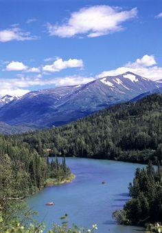 Upper Kenai River; Kenai, Alaska  Wait, let me get ready to fish for salmon.