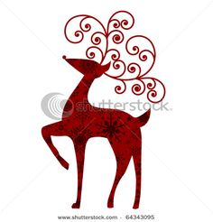 Christmas Reindeer - Vector Clipart Illustration
