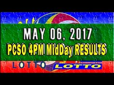 PCSO MidDay - 4PM Results May 06, 2017 (SWERTRES & EZ2)