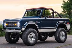 """Enter to win a fully restored and modernized American icon—a 1969 Ford """"Fuelie"""" Bronco—and you'll be helping 87 Running support disadvantaged youth. Classic Ford Broncos, Classic Bronco, Ford Classic Cars, Best Classic Cars, Classic Trucks, Chevy Classic, Lifted Ford Trucks, Old Trucks, Pickup Trucks"""