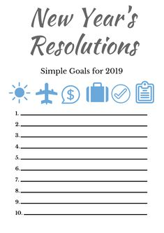 New Year's Resolutions- FREE PDF PRINTABLE  Write down all of your New Year's resolutions and get organized!  I like to post this where I can see it and remember what my resolutions are throughout the year.