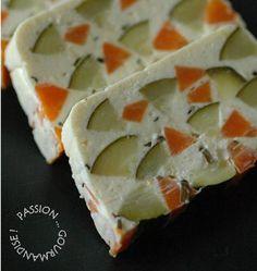 Terrine de courgettes et carottes au chèvre frais, la recette d'Ôdélices : retrouvez les ingrédients, la préparation, des recettes similaires et des photos qui donnent envie !