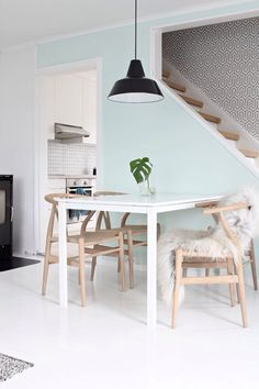 Mint coloured walls