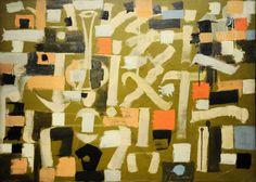 Number 13 by Bradley Walker Tomlin (oil on canvas)