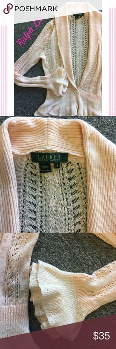 """Lauren by Ralph Lauren Ruffle Sweater 