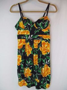 2ec5402efd Forever 21 Womens Size L Yellow Floral Banded Bustier Bra Top Cute Summer  Dress #FOREVER21