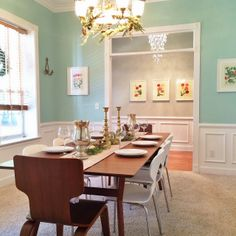The dining room paint