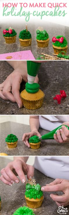 Creating holiday cupcakes has never been easier than when using cupcake rings and candles for holiday decoration.