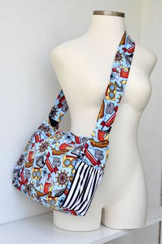 StellarCheri Punk Rock Pirate Diaper Bag READY TO SHIP. via Etsy.