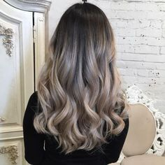 #TrendAlert: Ash Balayage. A deeper transition from the dark side of ash blonde to lighter ends that have balayage highlights of silver and grey make for an elegrant yet unique look. @hairstylezz