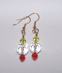 Christmas Candy Earrings by FiberandBeadBoutique on Etsy