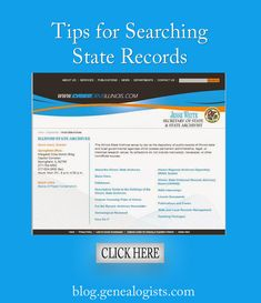 Tips for Searching State Records http://blog.genealogists.com