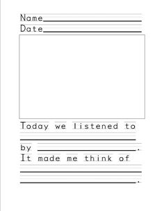 Listening Worksheet