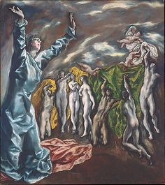 The Vision of Saint John El Greco (Domenikos Theotokopoulos) (Greek, Iráklion (Candia) 1540/41–1614 Toledo) -The opening  of the fifth seal