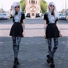 Daydreamer (by Kimi Peri) Very Skinny Girls, Current Mood Clothing, Skinny People, Black Milk Clothing, Gothic Clothing, Gothic Outfits, Punk Fashion, Alternative Fashion, Style Inspiration