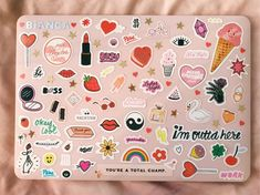 im in love with how my laptop case turned out! Mac Stickers, Cute Laptop Stickers, Macbook Stickers, Macbook Decal, Macbook Case, Laptop Case, Laptop Stand, Computer Case, Laptop Computers
