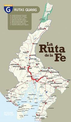 Mapa de la Ruta de la Fe en Guayas #guayas #turismo #ecuador
