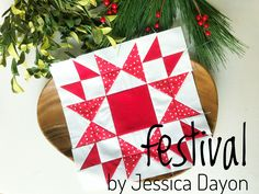 Dec Festival « Moda Bake Shop by Jessica Dayon This block finishes at or square. NOTE: The instructions below are for the finished block, with changes for the finished block in parentheses. Make 8 Flying Geese Christmas Blocks, Red Christmas, Christmas Quilting, Christmas Patterns, Jelly Roll Patterns, Kaleidoscope Quilt, Red And White Quilts, Baby Quilt Patterns, Quilt Labels
