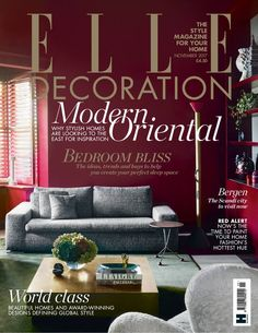 Elle Decoration - British Edition. A definitive guide to the most desirable, trend-setting, stylish and contemporary homes today.