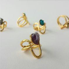 Anillo Min Citrino - Amarati Design   Colombian Jewelry Natura Stones, Semiprecious, Goldfielled, Jewel, Desgin, Ring