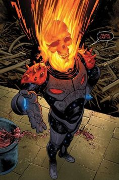 The punisher cosmic ghost rider a name a little longer than Thanos's adoptive dad Marvel Vs, Marvel Funny, Marvel Heroes, Captain Marvel, Marvel Comic Character, Marvel Characters, Fun Comics, Anime Comics, Punisher