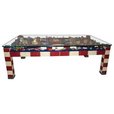 One of a Kind Mosaic Coffee Table with Murano Glass Barrier Reef | From a unique collection of antique and modern coffee and cocktail tables at https://www.1stdibs.com/furniture/tables/coffee-tables-cocktail-tables/