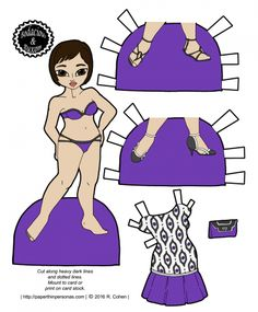 An Asian-American Printable Paper Doll With a Modern Dress