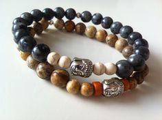 Men Buddha bracelet van KennlyDesign op Etsy