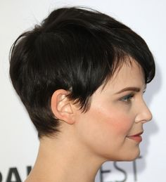Ginnifer Goodwin Hair. Perhaps the next time I chop my hair off, I'll do this.