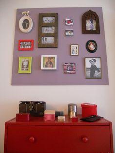 DIY - montage of old and new frames - G&L - Pêle-mêle de cadres