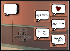 Speech Bubble Whiteboard Lamp credit for Simlish fontby Asha Download Here Hope you enjoy!