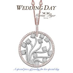 Your wedding day jewelry should be as magnificent as you!❤️-link in bio toview more of the Wedding Day collection!  .  .  #martinflyer #weddingday #jewelry #diamonds #rosegold #necklace #pendant #bridetobe #bridal #special #thebigday #love #bling #sparkle