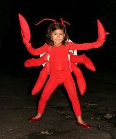 DIY Lobster / Crab Halloween Costume Idea
