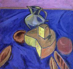 Куприн А.. Натюрморт с сыром. 1910