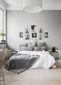 8 Simple and Modern Ideas Can Change Your Life: Minimalist Bedroom Cozy Gray rustic minimalist home stone walls.Minimalist Home Dark Grey. Couple Bedroom, Small Room Bedroom, Home Decor Bedroom, Small Rooms, Bedroom Apartment, Bed Room, Ikea Bedroom, Small Spaces, Gray Bedroom