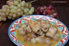 Cosicas dulces...y alguna salada: Rollitos de lomo con uvas y cebollitas