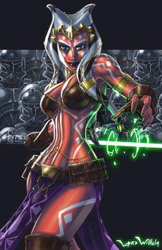 Ahsoka Tano Picture  (2d, fan art, star wars, girl, woman, portrait, sci-fi, creature)