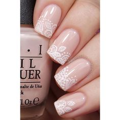 40 Nude Color Nail Art Ideas ❤ liked on Polyvore featuring beauty products, nail care and nails