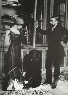 French couturier Paul Poiret in his workshop, Paris, 1910