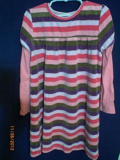 Girls Clothes #Oshkosh B'gosh Dress Pink Green Purple White Stripe Longsleeve Faux Layer Sz 6 Classicsncollectiblesbycheryl.com