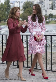 hrhduchesskate: Canada Tour, Day 2, Vancouver, British Columbia, September 25, 2016-Sophie Trudeau, wife of the Prime Minister, and the Duchess of Cambridge