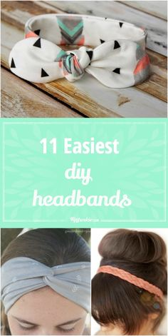 15 DIY Headband Ideas Great ideas to create your own cute headbands!}, http_status: DIY Headband Ideas - dress up a messy up-do by accessorizing with a cute DIY Headband Ideas - from a simple knotted strip of fabric, to a crochete Sewing Headbands, Diy Baby Headbands, How To Make Headbands, Fabric Headbands, How To Make Scrunchies, Fashion Headbands, Cool Diy, Easy Diy, Baby Turban