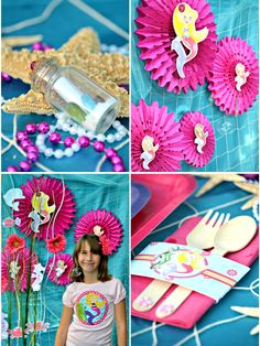 Mermaid Under The Sea Birthday party ideas, printables, DIY decorations and food ideas for a summer party - BirdsParty.com @birdsparty