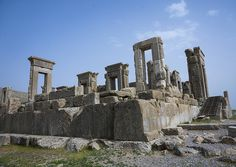 Ruins Of Apadana Palace Built By Darius The Great, Fars Province, Persepolis, Iran | da Eric Lafforgue