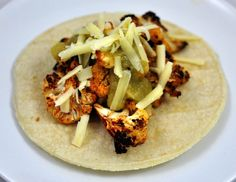 Smoky, Spicy Roasted Cauliflower Tacos