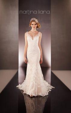 675 Illusion Back Wedding Dress by Martina Liana