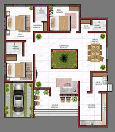 Low Budget 3 Bedroom Home Design with Free Plan, 28 Lakhs 3 Bedroom Home Design with Free Home Plan Village House Design, Kerala House Design, Duplex House Plans, Bungalow House Design, Bedroom House Plans, Indian House Designs, House Map Design, 3 Bedroom Floor Plan, Simple House Design
