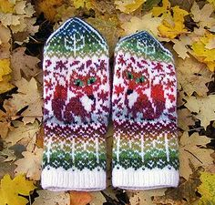 Ravelry: Fox Season Mittens pattern by Natalia Moreva Knitted Mittens Pattern, Knit Mittens, Knitted Gloves, Knitting For Kids, Knitting Projects, Baby Knitting, Knitting Charts, Knitting Patterns, Crochet Patterns